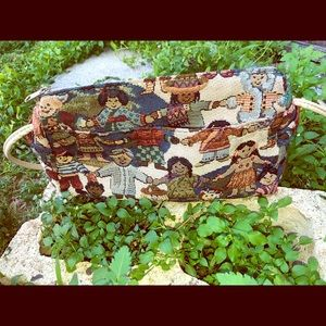 Vintage embroidered children of the world purse